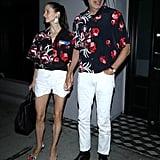 Jeff Goldblum and His Wife Wearing Matching Prada Shirts