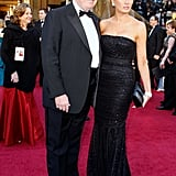 Melania attended the 83rd Annual Academy awards with Donald in 2011, choosing a sparkly strapless gown by Dolce & Gabbana.