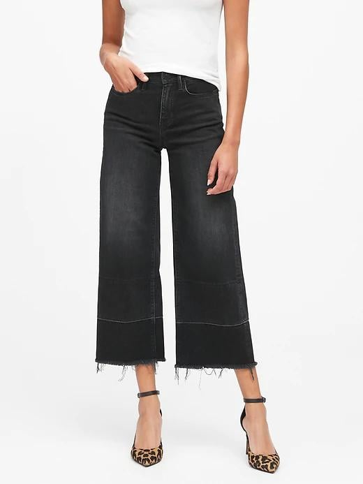 High-Rise Wide-Leg Cropped Jeans