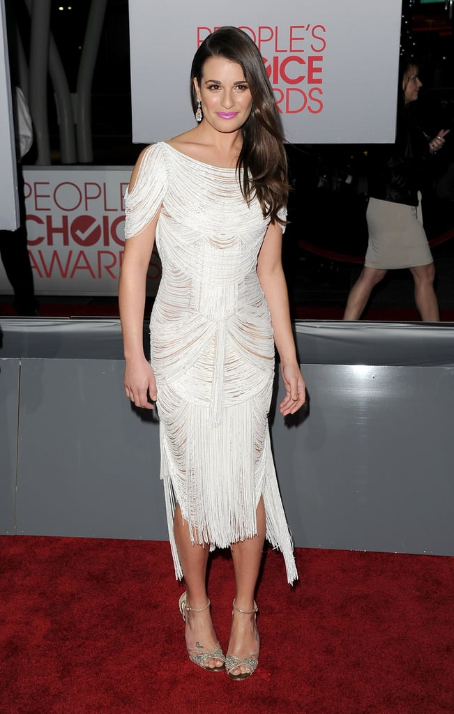 Lea Michele rocked a draped dress.