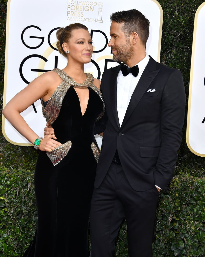 Blake Lively and Ryan Reynolds exchanged loving looks on the red carpet in 2017.