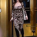 Selena Gomez Wearing a Ganni Dress in NYC