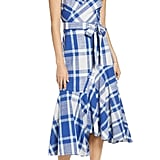 1901 Plaid Asymmetrical Sundress