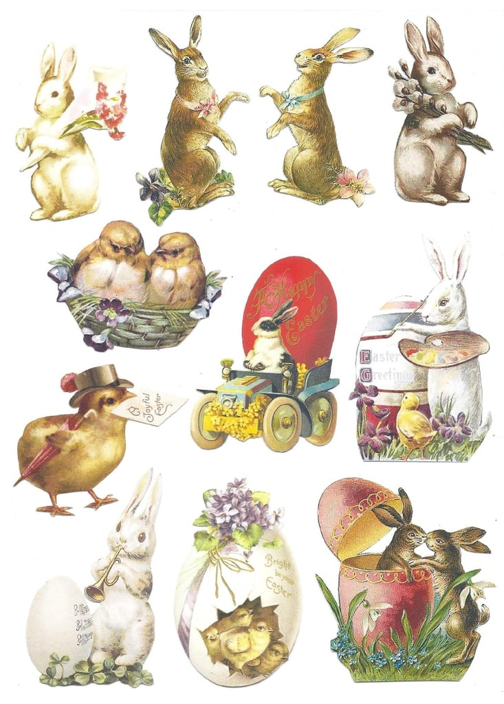 Vintage Bunny and Chick Motifs