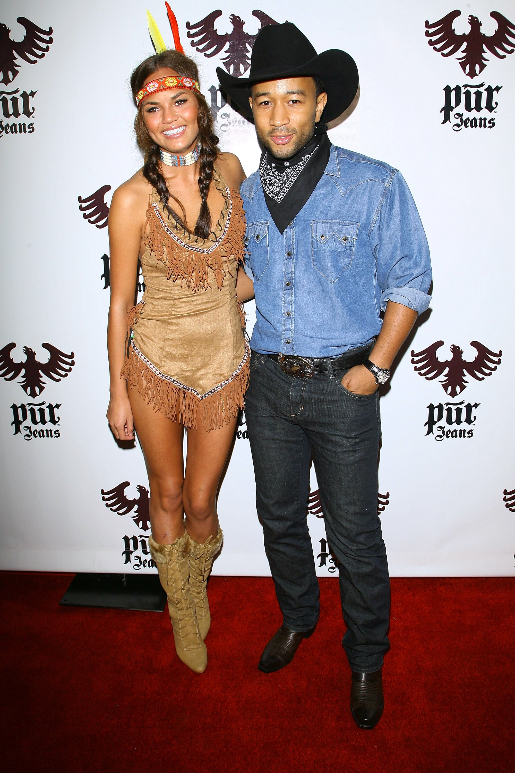 Pocohontas Halloween Costumes 2020 Chrissy Teigen played the part of Pocahontas while attending a
