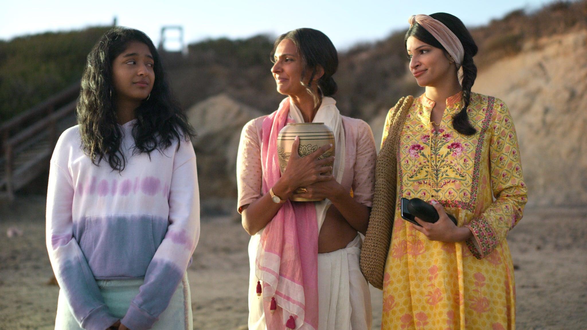 NEVER HAVE I EVER, from left: Maitreyi Ramakrishnan, Poorna Jagannathan, Richa Shukla, ...said I'm sorry, (Season 1, ep. 110, aired Apr. 27, 2020). photo: Netflix / Courtesy Everett Collection