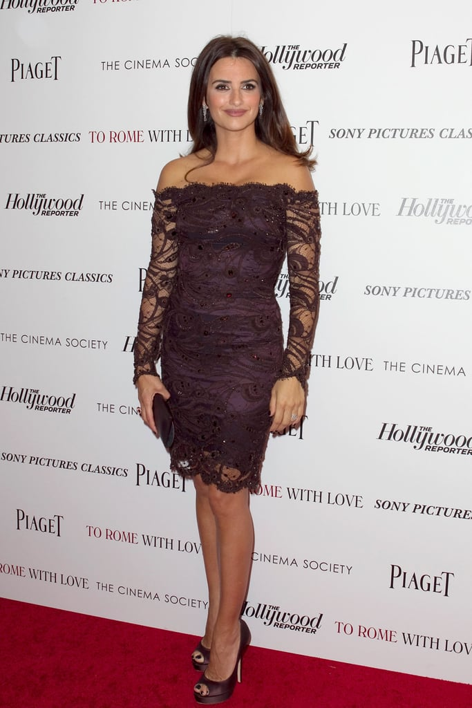 Penelope Cruz wore Emilio Pucci to a screening of To Rome With Love at the Paris Theatre.