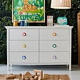 Drew Barrymore Flower Kids White 6 Drawer Dresser