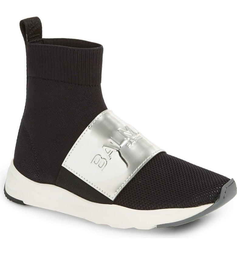 Balmain Cameron Knit Sneaker Boot
