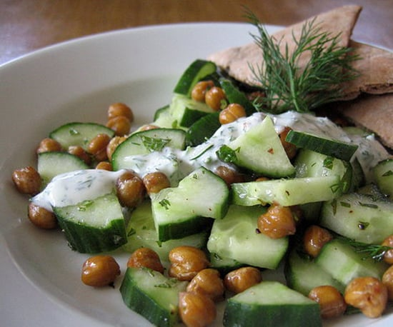 Roasted Chickpea and Cucumber Salad
