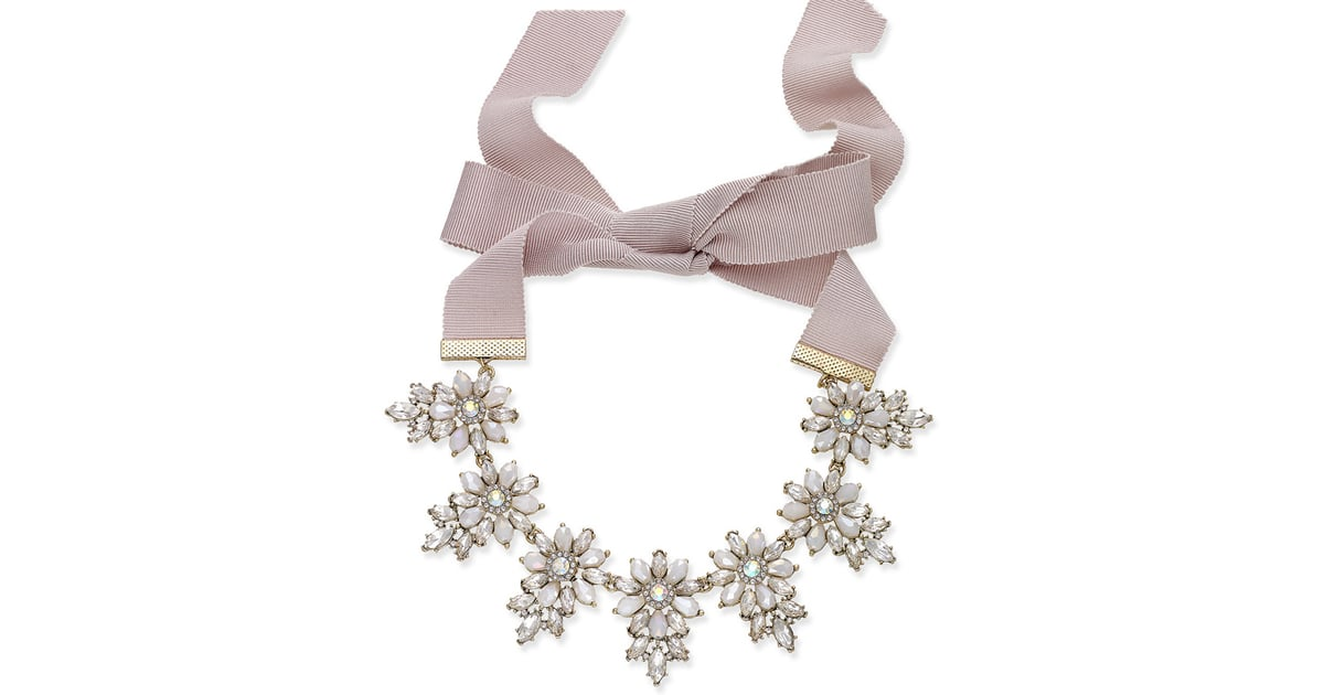 Inc International Concepts Gold Tone Crystal White Stone Flower