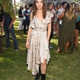 Hailee Steinfeld wearing a Zimmermann dress at the Winter Bumbleland party.
