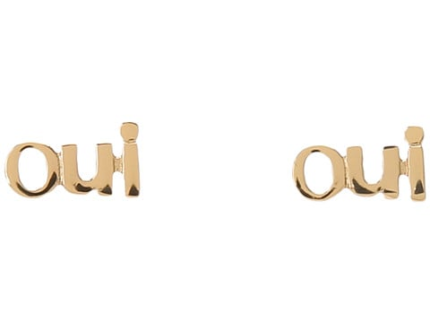 Score these Juicy Couture Statement Stud Oui Stud Earrings ($38) for the friend who likes to make a statement — subtly.