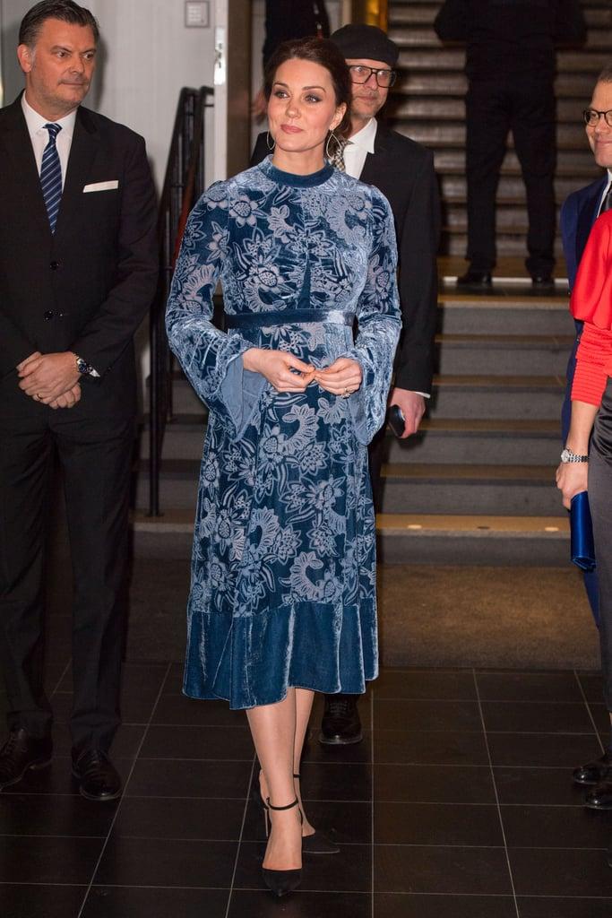 Kate Middleton's Blue Velvet Erdem Dress