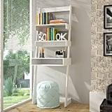Manhattan Comfort Urbane Carpina Two-Shelf Ladder Desk Bookcase in White