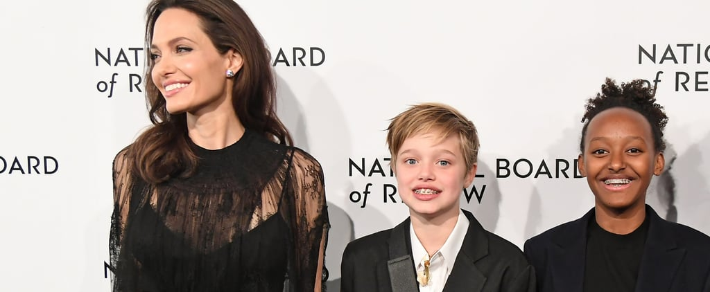 Angelina Jolie, Shiloh, and Zahara Board Review Awards Gala