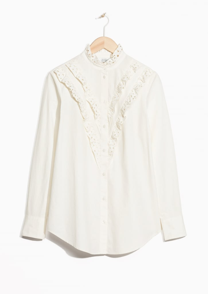 Other Stories Broderie Anglaise Frill Blouse (£55)