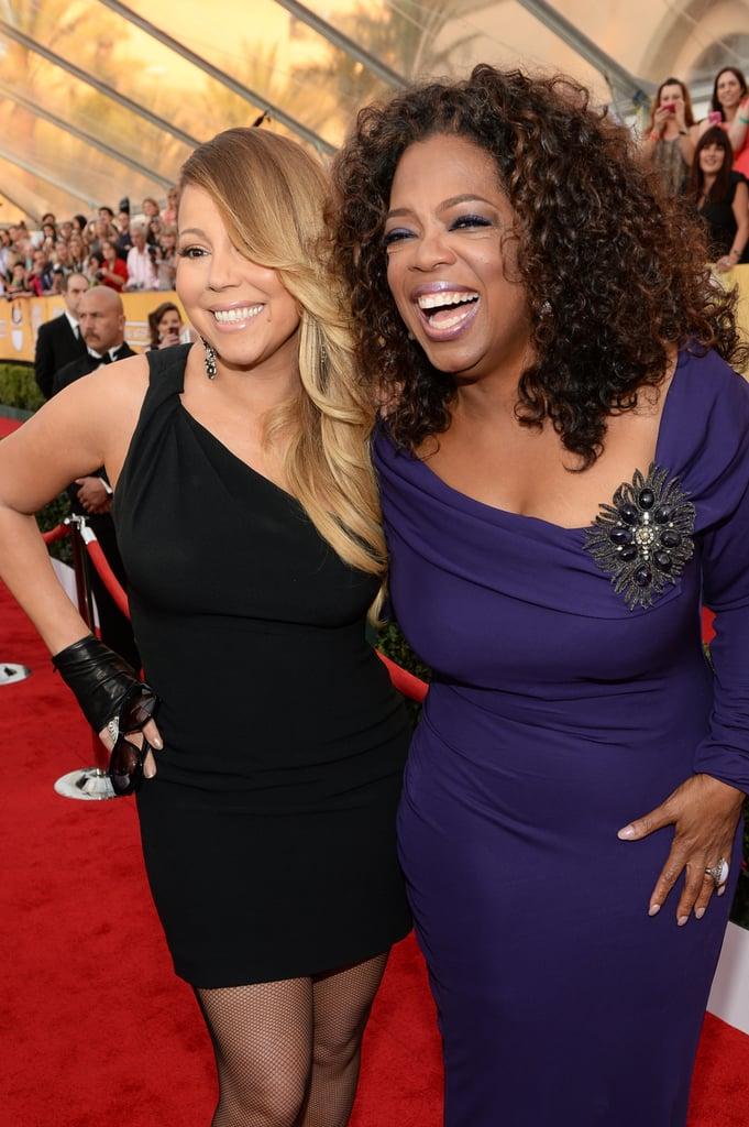 Oprah Winfrey and Mariah Carey showed their excitement.