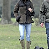 Kate Middleton was in London with dog Lupo.
