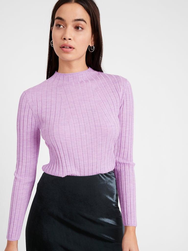 Banana Republic Merino Ribbed Sweater in Responsible Wool