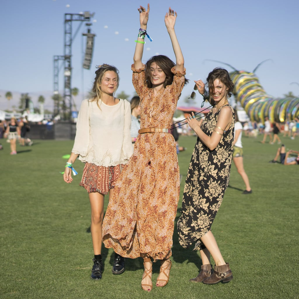 Billowy tops and long, flowing dresses made for a picture-perfect moment on the festival grounds.