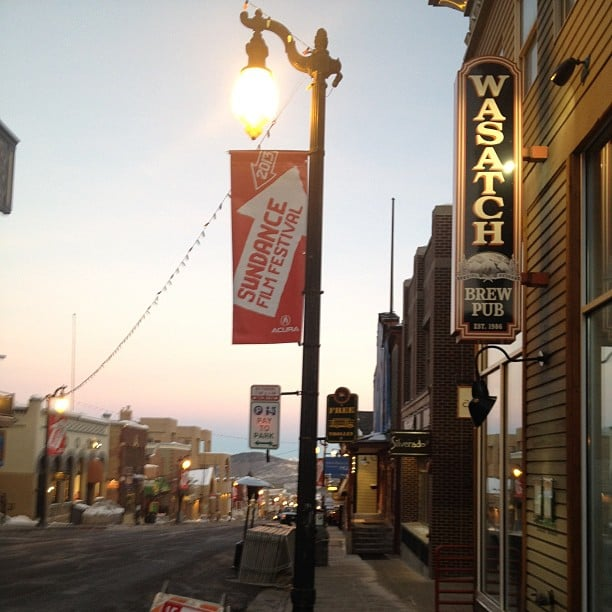 Sundance screenings start in the early morning, and Becky snapped this pic over Main Street as the sun came up.
