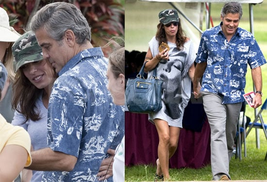 Photos of George Clooney on the Hawaiian Set of The Descendants With Elisabetta Canalis
