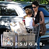 Halle Berry and Nahla Aubry grocery shopped in LA.