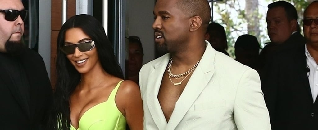 Kim Kardashian Green Dress at 2 Chainz's Wedding