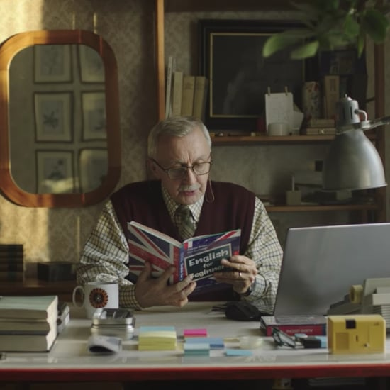 Polish Grandpa Learning English Christmas Ad