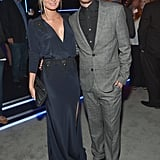 Aaron Paul stayed close to his wife, Lauren Parsekian, on Thursday.