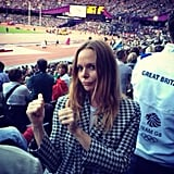 Stella McCartney got animated in the stands.  Source: Twitter user StellaMcCartney