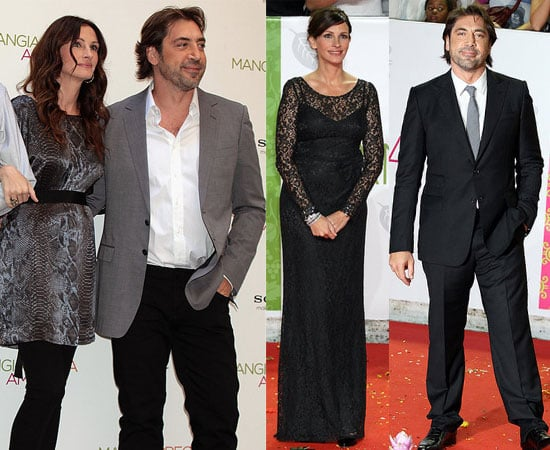 Pictures of Javier Bardem and Julia Roberts Teaming Up in Rome for the Eat Pray Love Premiere