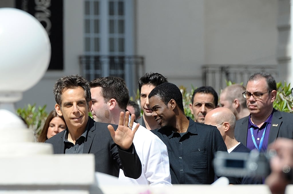 Ben Stiller gave a wave at the Cannes Film Festival.