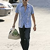 Olivier Martinez showed some skin in an unbuttoned shirt.
