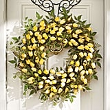 Yellow Tulip Wreath ($129)