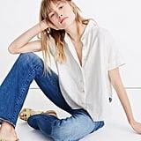 Linen-Blend Hilltop Shirt