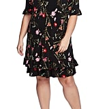 CeCe Enchanted Wildflower Ruffle Shift Dress