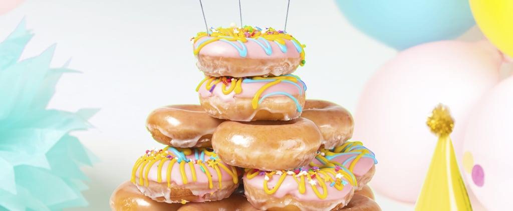 Krispy Kreme Birthday Cake Batter Filled Doughnut 2019