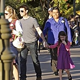 Tom Cruise and Suri Cruise spent a fun day together.