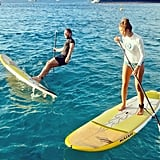 Derek Blasberg is a man of many talents . . . paddle boarding may not be one of them. Source: Instagram user derekblasberg