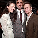 Pictured: Margaret Qualley, Taika Waititi, and Sam Rockwell