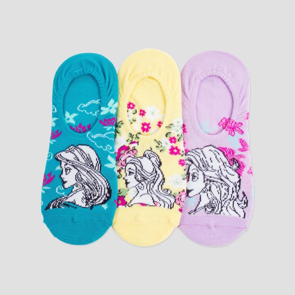 Women's 3-Pack Disney Princess Liner Socks