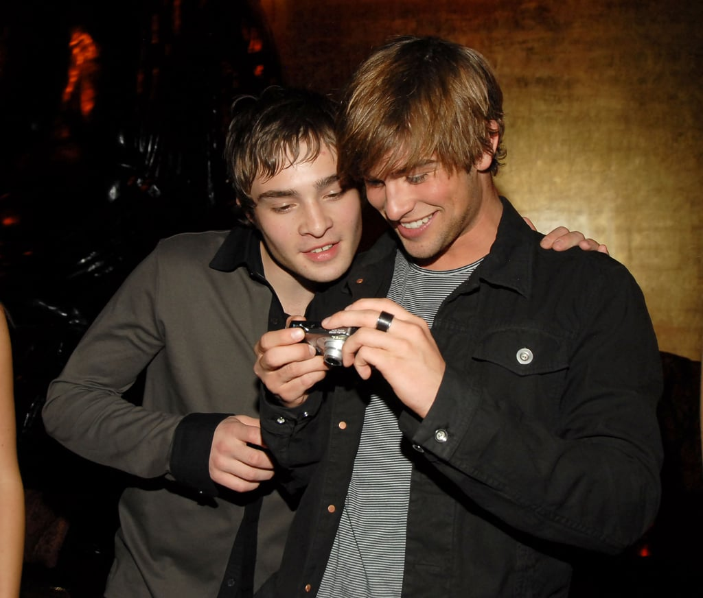 Ed Westwick and Chace Crawford attended a May 2007 party thrown in NYC by The CW.