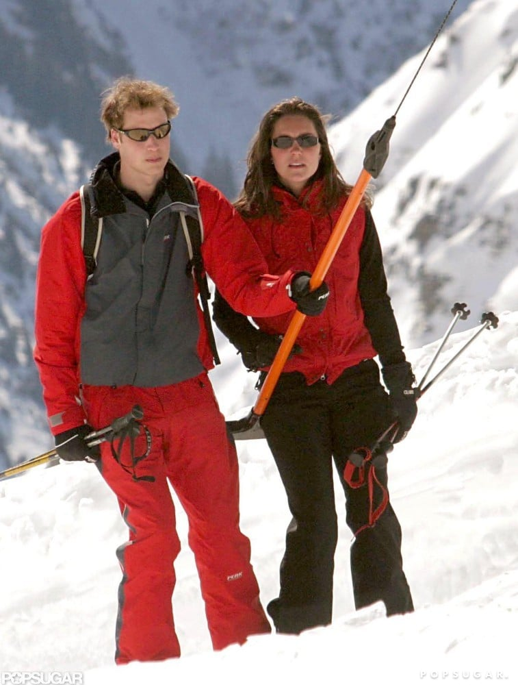 Prince William and Kate Middleton had a getaway to Klosters, Switzerland, in March 2004.