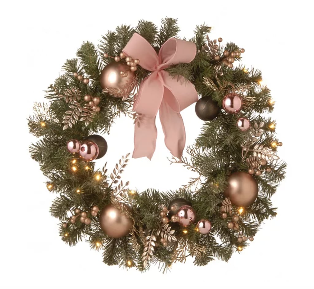 National Tree Company Decorated Pine Wreath with Battery Operated LED Lights