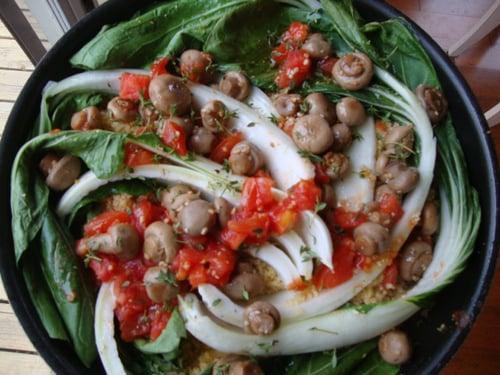 Bok Choy Skillet Supper
