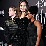 Angelina Jolie and Her Kids at Maleficent 2 Europe Premiere