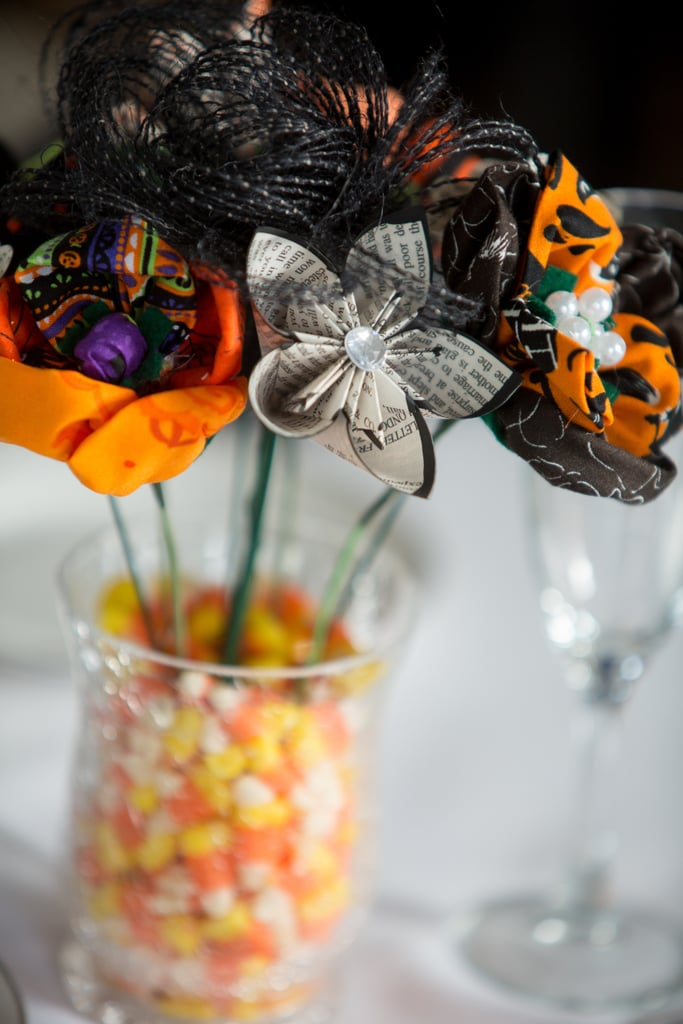 Filling A Vase With Candy Corn Can Double As Decor And