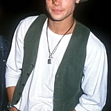 He rocked a hipster-cool look at an LA launch party in September 1989 — what a babe, right?